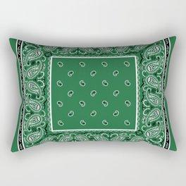 Classic Green Bandana Rectangular Pillow