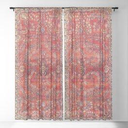 Sarouk Arak West Persian Carpet Print Sheer Curtain