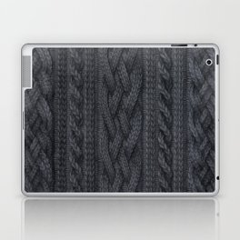 Charcoal Cable Knit Laptop & iPad Skin