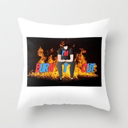 I Am Burnt Out Throw Pillow