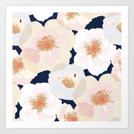 Big Poppies - Blush Art Print