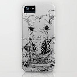 """Slippery Spaghetti"" Elephant and Spaghetti iPhone Case"