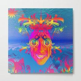 Psychedelic Fish Metal Print