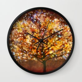 Starry Tree Wall Clock