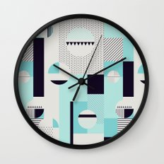 Picnic on the beach Wall Clock