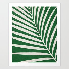 Minimalist Palm Leaf Kunstdrucke