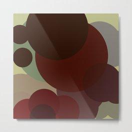 Autumnal Circles Metal Print