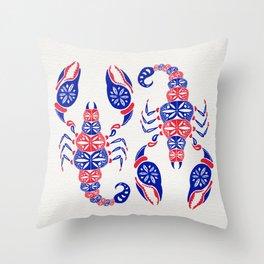 Patriotic Scorpion Throw Pillow