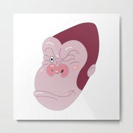 Gorilla's Face Metal Print