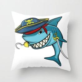 Pirate Hai Sea Funny Food Nature Captain Gift Throw Pillow
