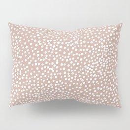 Little wild cheetah spots animal print neutral home trend warm dusty rose coral Pillow Sham