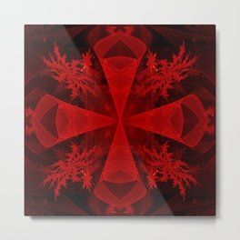 Red abstract 1 Metal Print