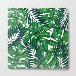 Jungle leaves Metal Print