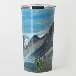 Acrylic Mountain Scene Travel Mug