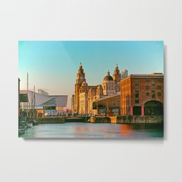 Pier Head and the Albert Dock Metal Print