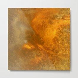 Aurora Borealis: Northern Lights Abstract Design Metal Print