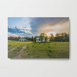 Little Farmhouse All Alone, North Dakota 1 Metal Print