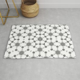 ancient sacred geomertry. seamless pattern. flower of life Rug