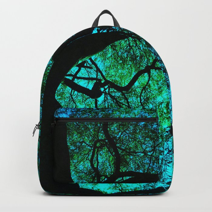 Under The Tree Blue and Green Rucksack