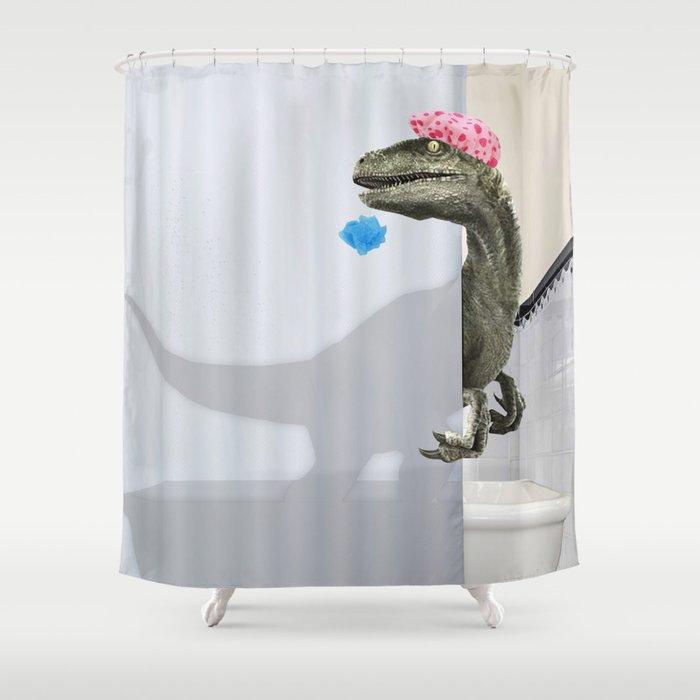 """""""Velociraptor"""" Shower Curtain Duschvorhang"""