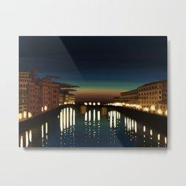 The Arno River Metal Print