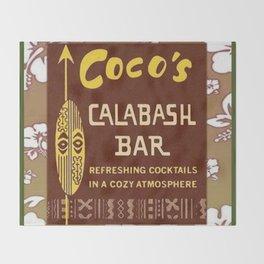 Tiki Art - Coco's Calabash Bar Throw Blanket