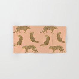 sunset leopards Hand & Bath Towel