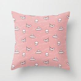 Alien (Pink) Throw Pillow