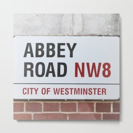 Abbey Road Street Sign Metal Print