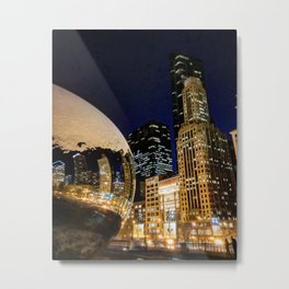 The Chicago Bean #4 Metal Print