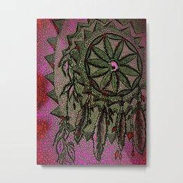Sunset Dreamcatcher - enhanced Metal Print