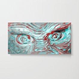 Pop Art Creature Eyes Metal Print