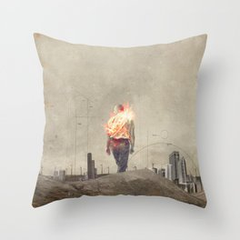 These cities burned my soul Throw Pillow