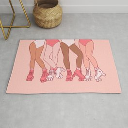 Let's Roll - Rollerskate Girls Pink Version Rug