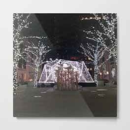 Winter Tent in NYC Metal Print