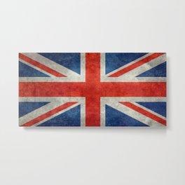 UK flag - Bright retro 1:2 Scale Metal Print