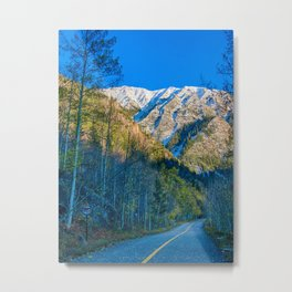 Mountain Path // Rocky Mountains Colorado Landscape Photography Amazing Shots at Sunrise Metal Print