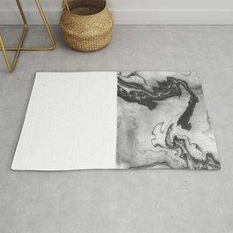Hiroto - ink japanese marble paper free monoprint pattern marbled cell phone case india ink painting Rug