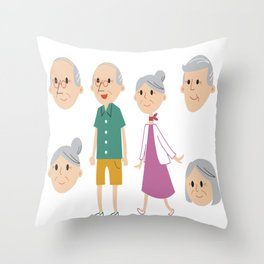 Happy National Grandparents Day Throw Pillow