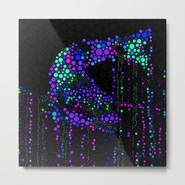 FISH ABSTRACT MOSAIC Metal Print