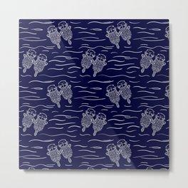 Otterly Devoted Metal Print