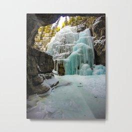 Angel Falls in Maligne Canyon, Canada Metal Print
