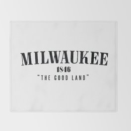 Milwaukee — The Good Land Throw Blanket