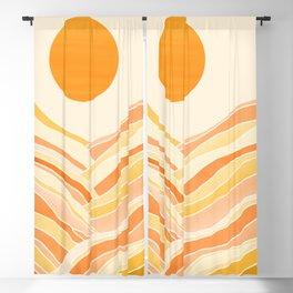 Golden Mountain Sunset Blackout Curtain
