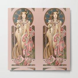 "Alphonse Mucha ""Dry Imperial"" Metal Print"