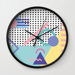 Memphis Pattern 5 - 80s - 90s - Retro Wall Clock