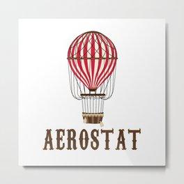 Retro Balloonist Hot Air Balloon Pilot Ballooning Vintage Gift Metal Print
