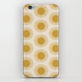 Golden Sun Pattern iPhone Skin