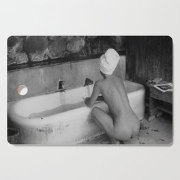 Bath in Paris, Cold Water Flat, Female Nude black and white art photography / photograph Cutting Board