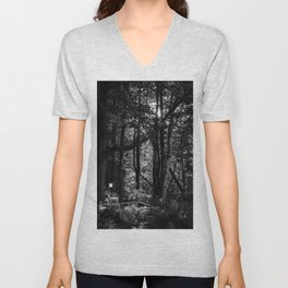 Empty Chair and Bird Feeder Unisex V-Neck